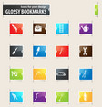 work tools bookmark icons vector image vector image