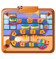 boardgame design with musical instruments in room vector image