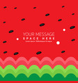 watermelon background striped green and red summer vector image