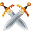 Two Crossed Swords vector image