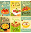 italian food posters set vector image