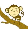 Monkey climb vector image