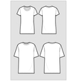 Technical sketch of white t-shirt vector image