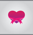 love ribbon vector image