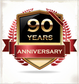 90 years anniversary golden label vector image vector image