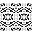 Abstract Black Flower Pattern vector image vector image