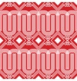 abstract chinese seamless on red background vector image