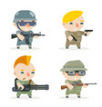 battle war rpg game soldier heroes gunman rifleman vector image