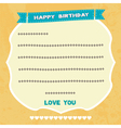 Birthday card3 vector image vector image
