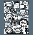 black and white comic book page divided lines vector image vector image