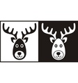 Black and white reindeer face vector image vector image