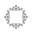 black contour square frame vintage vector image vector image