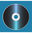 blank cd disk template vector image vector image