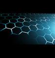 blue abstract hexagon net technology vector image vector image