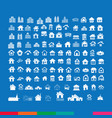 building real estate home icons set design vector image