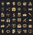 business analytics icons set cartoon style vector image vector image