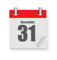calendar flat daily icon vector image