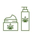 cannabis marijuana hemp cosmetics vector image