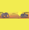 cartoon african animals background vector image vector image