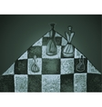 Chess pieces on a chessboard vector image vector image