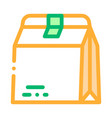closed paper bag for food packaging icon vector image