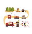 coffee production in process infographic vector image