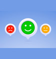 color emoticons in three options vector image