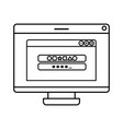 computer screen with open window icon isolated vector image