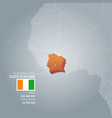 cote divoire information map vector image