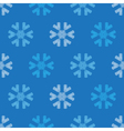 Crochet snowflakes seamless pattern vector image vector image