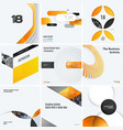 design set of yellow colourful abstract vector image vector image