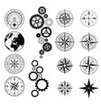 different black design elements set vector image vector image