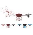 dissolving pixel halftone shutter spy airdrone vector image vector image