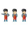 explainer repair man character design vector image vector image