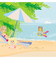 Family holidays by the sea vector image vector image