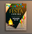 festa junina party poster design holiday greeting vector image vector image