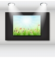 Frame with natural floral background in art vector image vector image