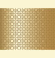 gold patterned background vector image vector image