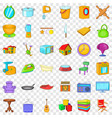good house icons set cartoon style vector image vector image