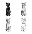 gray catanimals single icon in cartoon style vector image vector image