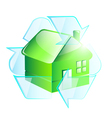 Green house as recycle symbol vector image vector image