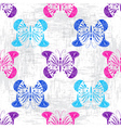 Grungy light pattern with colorful butterflies vector image vector image