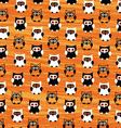 Halloween Owls Pattern vector image vector image