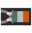 Hand made flag of Ireland vector image