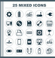 hardware icons set collection of desktop computer vector image