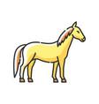 horse rgb color icon vector image vector image