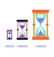 hourglass for different times modern flat style vector image vector image