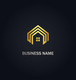 house rorealty gold logo vector image