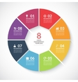Infographic circle banner vector image vector image