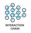 interaction chain thin line icon sign symbol vector image